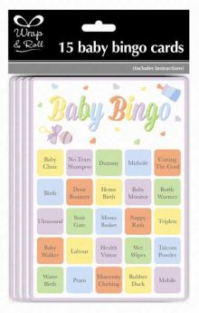 Baby Bingo Cards pk15