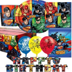 Justice League Deluxe Party Kit for 16