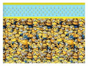 Lovely Minions Plastic Party Tablecover