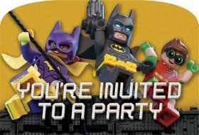 LEGO Batman Movie Postcard Invitations pk8