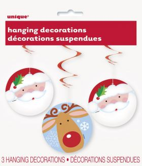 Snowman Santa & Reindeer Hanging Decoration