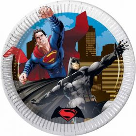 Batman v Superman 20cm Plates pk8