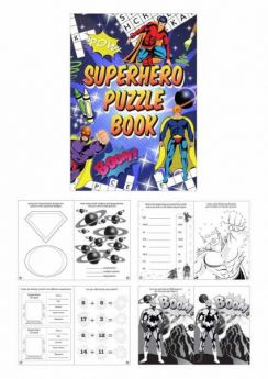 Super Hero Fun Puzzle Book