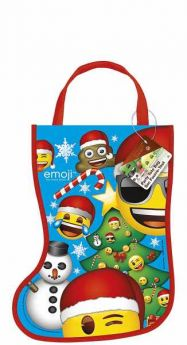Emoji Christmas Stocking Party Bag