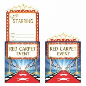 Hollywood Lights Party Invitations pk8