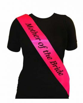 Hot Pink Mother of the Bride Sash