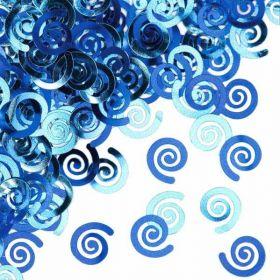 Classic Blue Pastel Swirls Confetti