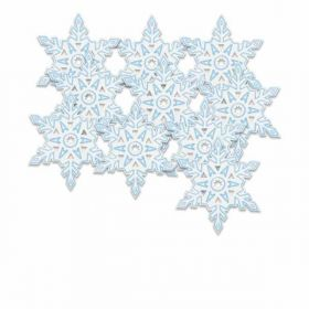 Mini Snowflake Christmas Decorations pk10