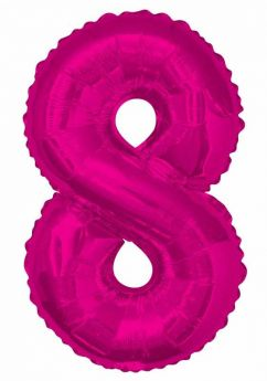 Pink Glitz Number Foil Balloon - 8