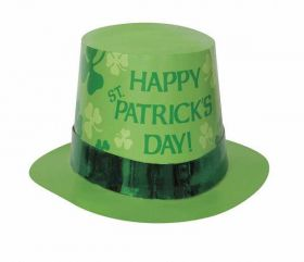 St. Patrick's Card Top Hat with Foil Band