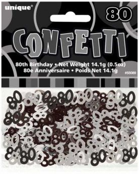 Black Glitz 80 Party Confetti