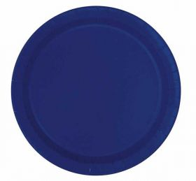 True Navy Blue Plates pk16