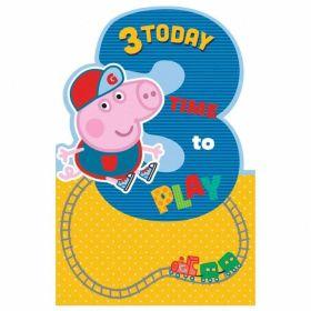 Peppa Pig Age 3 Boy Card