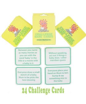 Baby Shower Challenge Game Cards - 24 cards
