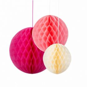Blossom Honeycombs, 3 assorted colours