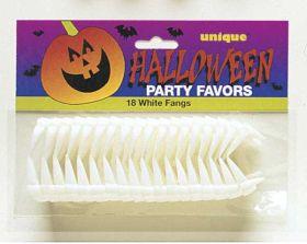 Halloween White Fangs pk18