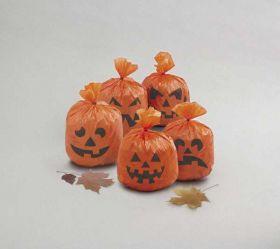 Pumpkin Hanging Leaf Bags pk20
