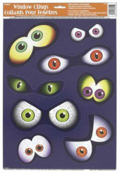 Halloween Eyeball Window Cling Sheet