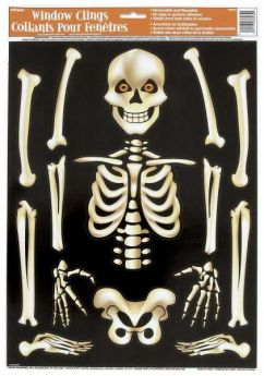 Skeleton Window Clings Sheet