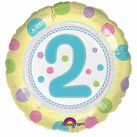 SpotOn 2nd Happy Birthday Standard Foil Balloons
