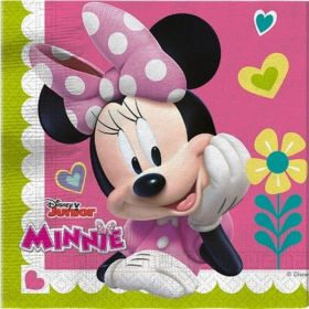 Disney Minnie Mouse Party Napkins, pk20