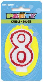 Red & White Party Candle 8