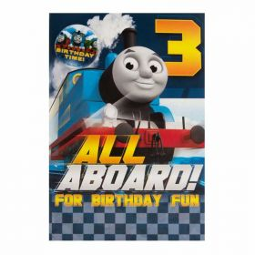 Thomas the Tank Engine Age 3 Card with Badge