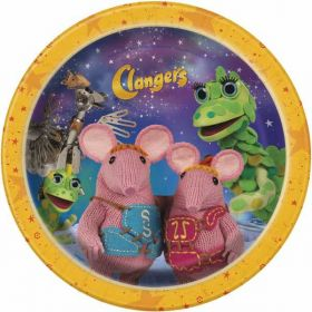 Clangers Paper Party Plates pk8 7''
