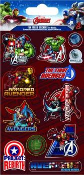 Marvel Avengers Fun Foil Re-usable Sticker Sheet