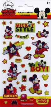 Mickey Mouse Re-Usable Foil Stickers