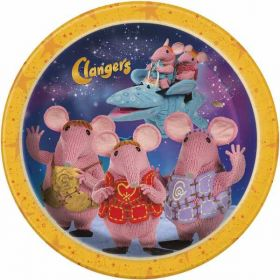 Clangers Paper Party Plates pk8 9''