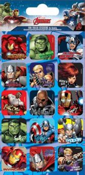 Marvel Avengers Captions Fun Foil Re-usable Sticker Sheet