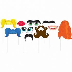 Faces Photo Props 10pk