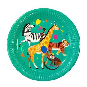 Party Animals Large Plates, pk8