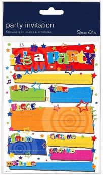 It's a Party Party Invitations, pk20