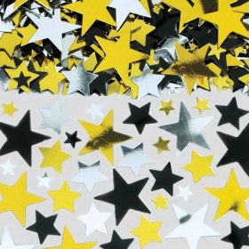 Gold/Black/Silver Metallic Stars Big Pack of Confetti