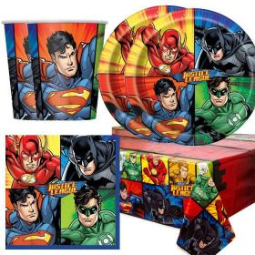 Justice League Party Tableware Pack for 16