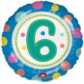 SpotOn 6th Happy Birthday Standard Foil Balloons