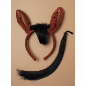 Brown Horse Ears Aliceband