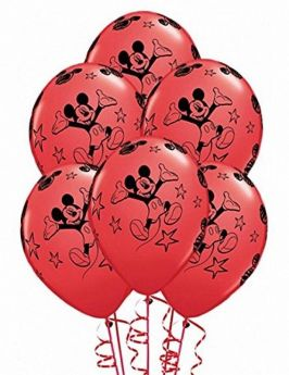 Mickey Mouse Balloons, helium quality pk6 12 ins