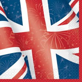 Best of British Party Lunch Napkins 33cm x 33cm, p16
