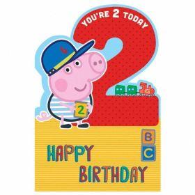 Peppa Boy Age 2 Boy Card