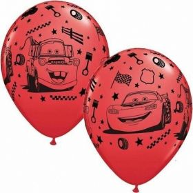Cars Latex Balloons, helium quality, pk6 12 ins