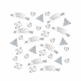 Sparkling Silver Anniversary Confetti 28g