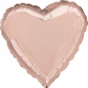 """Rose Gold Heart Foil Balloon 18"""""""