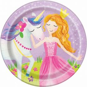 "8 Magical Princess 7"" Plates"