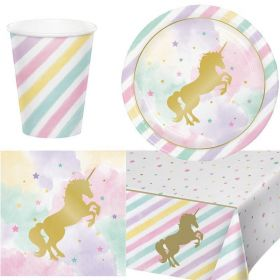 Unicorn Sparkle Party Tableware pack for 8