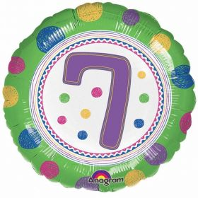 SpotOn 7th Happy Birthday Standard Foil Balloons