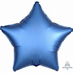 Azure Star Satin Luxe Standard HX Foil Balloon