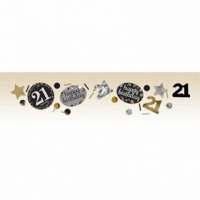 Gold Sparkling Celebration 21st Confetti 34g